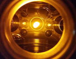 Picture of ultracold sodium gas at OU